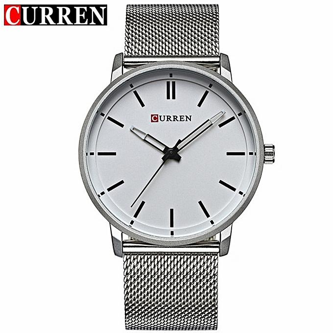 2a02ad5af06 CURREN Watches Men Watch Quartz Strap Stainless Steel Mesh Ultra Thin Dial  Watch