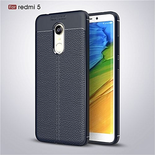 newest f7bd2 d68c6 Fashion Slim Phone Case Leather Slim Shockproof Silicone TPU Cover For  Xiaomi Redmi 5 5.7 Inch Case