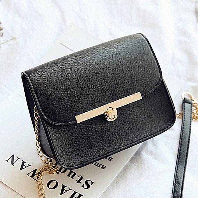 7b0a446589bb8 Africanmall store Women Messenger Shoulder Bag Ladies Small Clutches Chain Crossbody  Bags Tote -Black