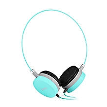 W3 Colorful Stereo Wired 3.5MM Headset Headphones-BLUE