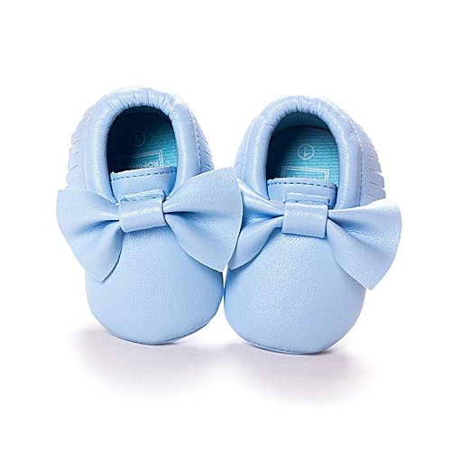 889d9e7fe0a Fashion 0-18M Newborn Baby Leather Tassel Soft Sole Shoes Girls Infant Crib Moccasin  light blue-UK