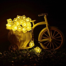 20 LED Solar Power Outdoor Diamond light string Garden Party Fairy Lamp