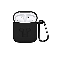 AirPods Case With Strap Hang Protective Silicone Case Cover And Skin Accessories With Keychain (5.5*4.5cm)