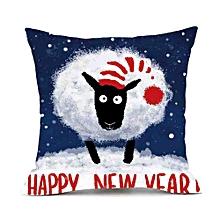 Merry Christmas Pillows Cover Decor Pillow Case Sofa Waist Throw Cushion Cover A
