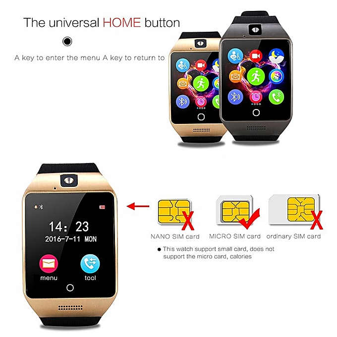 XGODY XW11 Bluetooth Smart Watch SIM NFC Phone Mate HD Camera for Android  iPhone