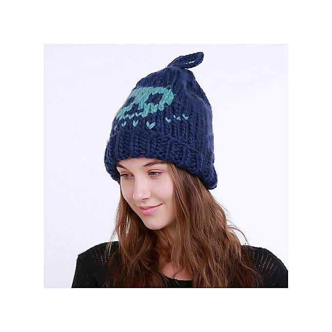 Fashion Wenrenmok Store Women Warm Crochet Winter Wool Knit Ski