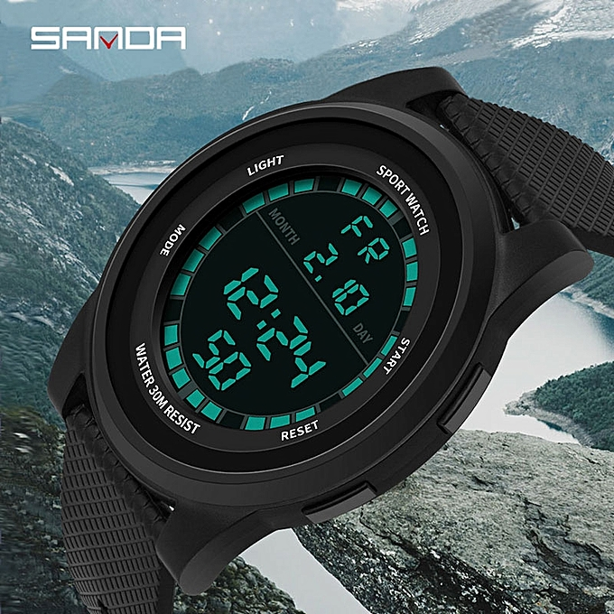 faa549cd9 Generic Sports Watches Men Waterproof Silicone Fashion LED Digital ...