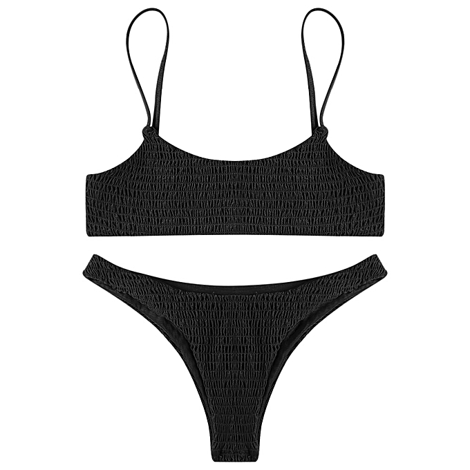 55469f67f5c Fashion Leadsmart Sexy Pleated Bikini Women Swimsuit Swimwear Set Beachwear  Bathing Suit