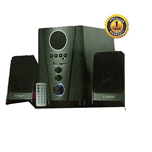 V006 2.1CH Multimedia Speaker System - Black with FM Radio