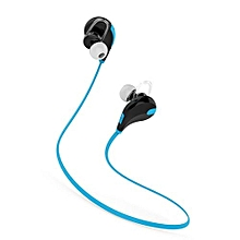 Sports Running Bluetooth Headset Headphones HIFI Stereo Wireless Earphones With Microphone Handsfree Mp3 Player For IPhone Android Phone Blue