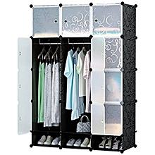 Plastic wardrobe-3C Black