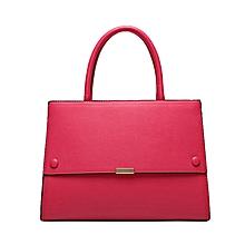 Dark Pink Structured Handbag