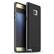 """For Samsung Galaxy Note 7 Case TPU + PC Frame Silicon Case Cover For Samsung Galaxy Note7 5.8"""" Dual Layered Shell(Grey)"""