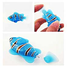 Cute Cartoon Electric Fish Creative Small Fish Swim Robofish Great Bath Play Toy For Children Color:blue