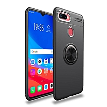 Oppo F9 Case, 360 Degree Rotating Ring Kickstand Magnetic Car Mount Function Full Protective TPU Cover Case for OPPO F9