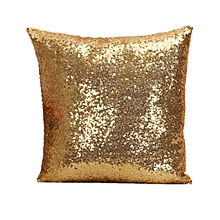 European sequins pillowcase cushion cover Decor Soft Pillowcase Car Seat golden