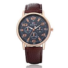Technologg Watch  Men's Leisure Sports Watches Men's Belt Watches High Grade Male Models Quartz Wa-Brown