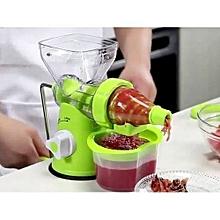 multi function manual blender- fruits and vegetable - Green