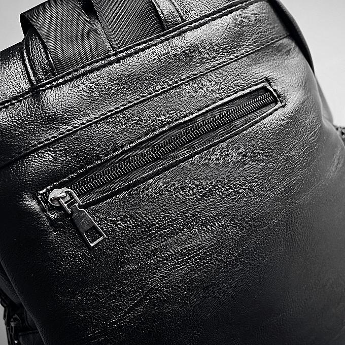 38dc87ae145d Generic Unisex Solid Travel Backpack School Bag Double Shoulder Bag ...