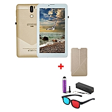 "A7 Plus Kids Tablet – 7""  – 1GB RAM – 16GB ROM – Wi-Fi - 4G (Single SIM) - Gold  with with Free Stylus, Cover, Powerbank & 3D Glasses"