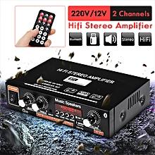 Mini HIFI Digital Bluetooth Audio Stereo Power Amplifier With Remote