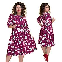 Dresses Large Sizes Boho Printed Floral Dress Elegant Autumn Plus Big Size A Line Office Dress Party Work