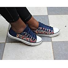 Blue (multicoloured) Vintage Fashionable Canvas Rubber shoes