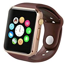 "A1 - 1.54"" - 0.3MP Camera - Smart Watch Phone - Gold"