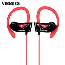 V8 Sports Bluetooth Ear Hook Earphones - Red
