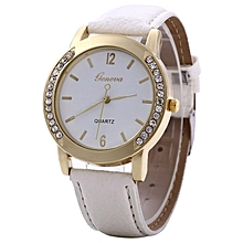 ZLF0364 Stylish Women Lady Watch Leather Strap Band Quartz Wrist Watch Fashion White