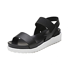 Xiuxingzi_Fashion Sandals Women Aged Leather Flat Sandals Ladies Shoes