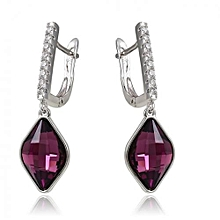 Purple fashion earring