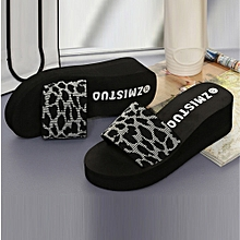 Generic Summer Women Shoes Platform Bath Slippers Wedge Beach Slope Flops Slippers Shoes A1
