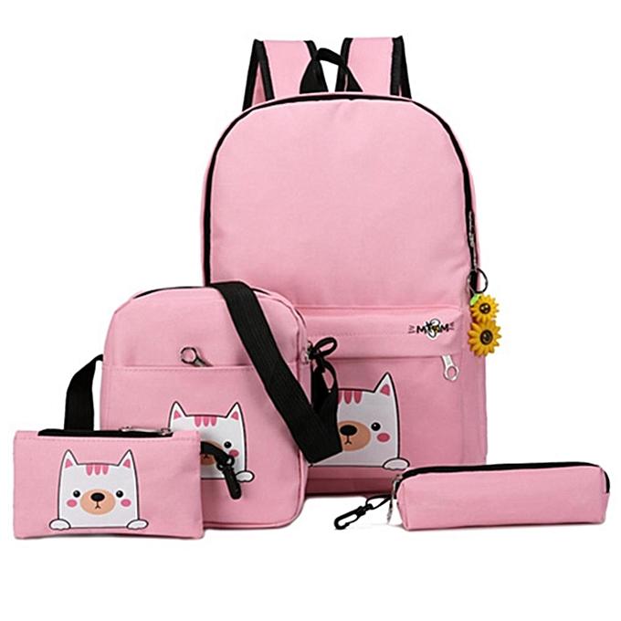 6pcs Canvas Dog Backpack Shoulder Bag Handbag Pen Case Sunflower Pendant