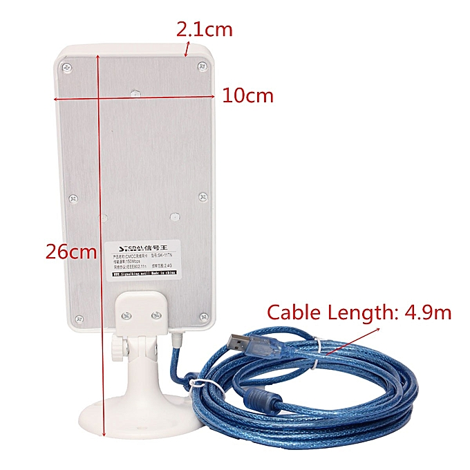 2 4GHz WiFi Antenna Outdoor Receiver 2500m Long Range Wireless Amplifier  Wifi Signal Extender Booster Repeater USB Adapter( )