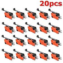 20x AC125~250V 15A 3Pins Micro Limit Roller Lever Contact Switch SPDT New