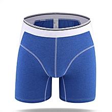 Mens Fashion Cotton Casual Mid Rise Contrast Color Underwear Boxers