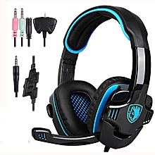 Stereo Gaming Headphone, SADES with Microphone (Blue)