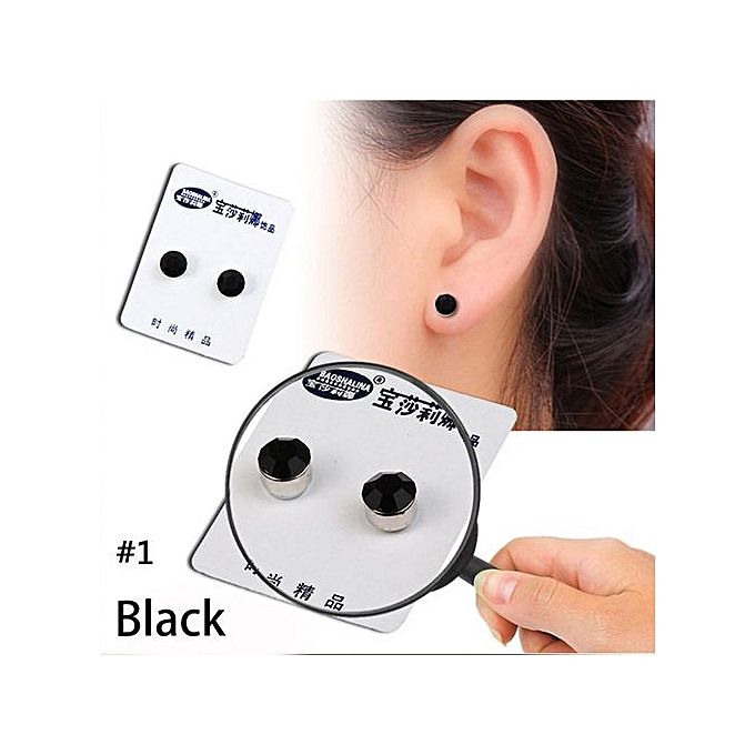 fd192a47003 Seioure Weight Loss Earrings Crystal Slimming Healthy Acupoints Stud  Magnetic Therapy As Shown