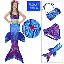 Kids Girls Swimsuit Bikini Set With Mermaids Tail Sea-maid Swimming Costumes (110)