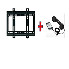 "14""-42"" - TV wall mount with free handset receiver of any color - Black"