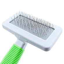 Handle Shedding Pet Dog Cat Hair Brush Pin Fur Grooming Trimmer Comb Tool-Green