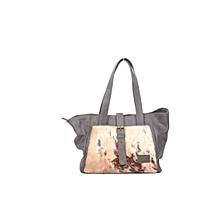 Jute-Leather handbag- Pendo