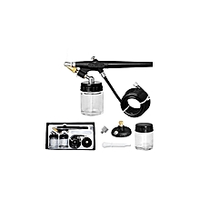Airbrush Spray Kit 22cc Ink Cup Hose Single Action Air Brush Paint Art Tool