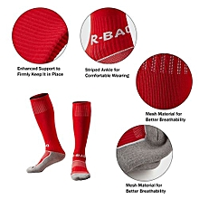 1 Pair Of Children Thick Cotton Footbed Knee High Socks Loom Sock Compression Soft Football Socks
