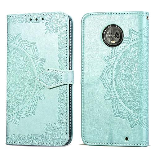 first rate 71428 4afc7 Motorola Moto G6 Case,Mandala Embossing PU Leather Magnetic Flip Folio  Kickstand Wallet Case with Card Slots Case for Motorola Moto G6 5.7