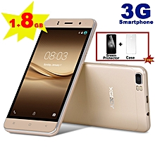 "Dual SIM 8GB Android Mobile Phone 5"" un-locked 3G Quad Core GPS Smartphone-GOLD"