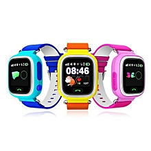 Smart Baby Watch Touch Screen Positioning Smart Watch Children SOS Call Location Finder Device Anti Lost Reminder Blue