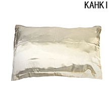 Hequeen 1pc New Standard Silk Ice Silk Pillow Case Multiple Colors