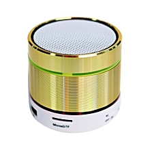 Mini Bluetooth Speaker, S07D Mini Wireless Boombox Stereo Speaker Amplifier Portable Super Bass Handsfree Speaker LED Light(Gold)